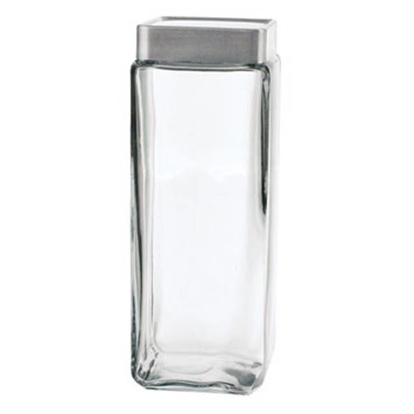 Anchor Hocking 2.4L Stackable Square Glass Jar
