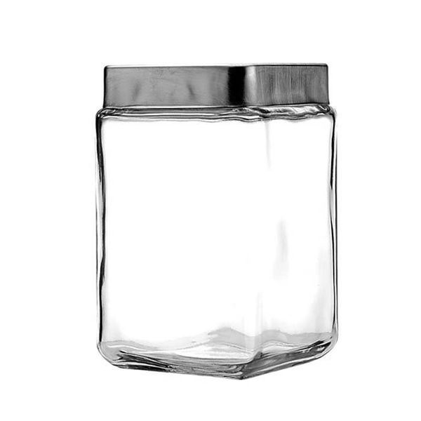 Anchor Stackable Square Jar