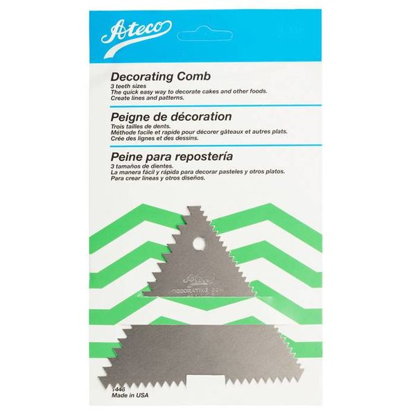 Ateco Decorating Comb, 3 Sizes
