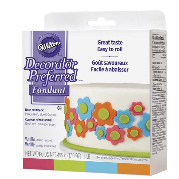 Wilton Decorator Preferred Fondant - Neon Colour 4-Pack