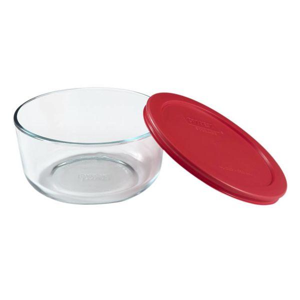 Plat rond avec couvercle rouge 1L  Simply Store de Pyrex
