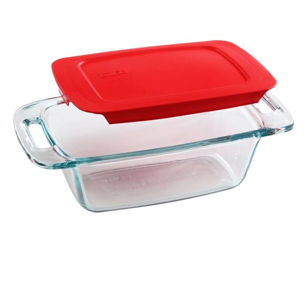 Pyrex Easy Grab Loaf Pan with Red Cover