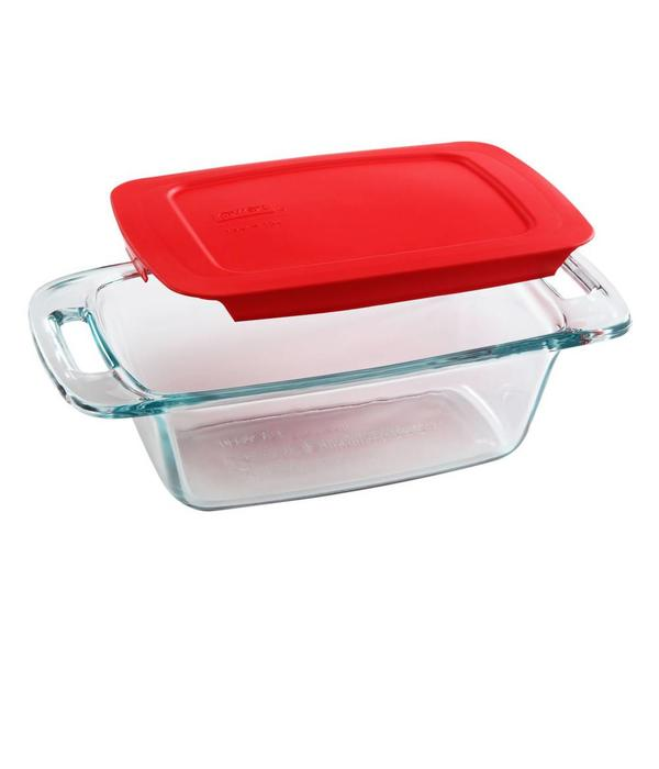 Pyrex Easy Grab Loaf Pan With Red Cover Ares Kitchen And