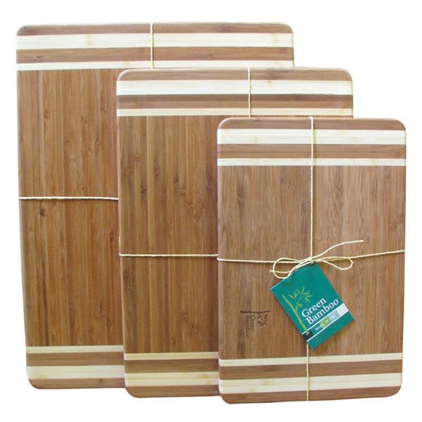Green Bamboo Cutting Board 30cm x 20 cm