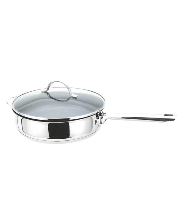 Orly Cuisine Cool Kitchen Pro Green Cuisine Sauté Pan with Glass Lid 32 cm