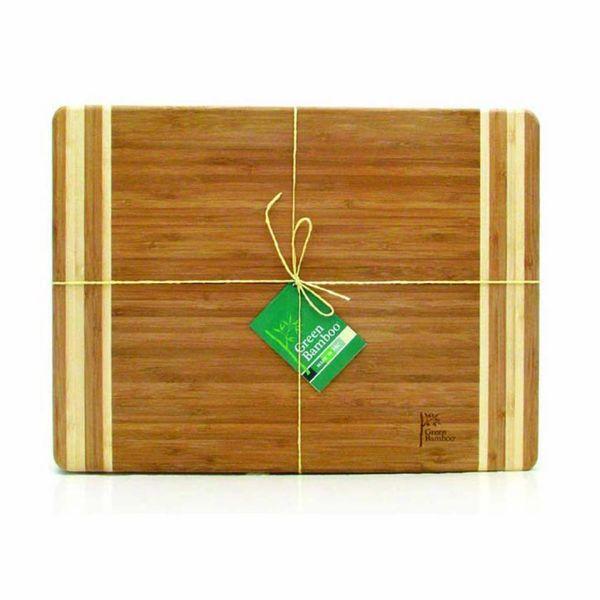 Green Bamboo Cutting Board 35 cm x 25 cm