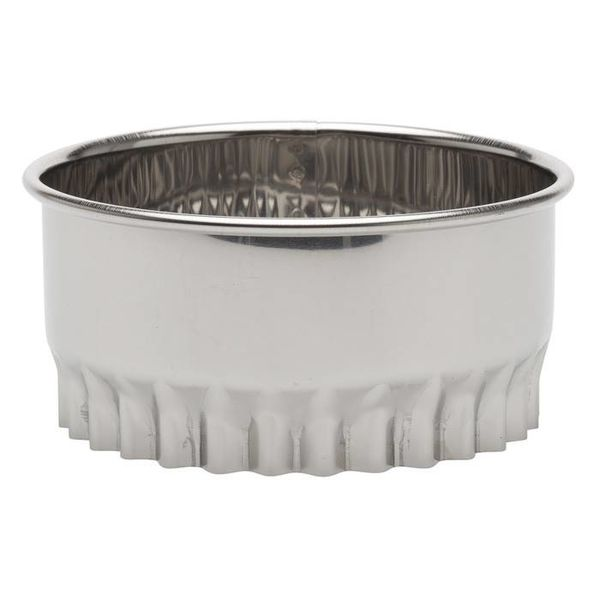 "Ateco 3.5"" Round Scalloped Cookie Cutter"