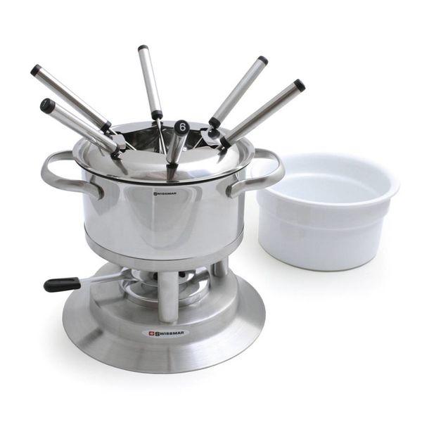 Ensemble à fondue Arose de 11 pièces en acier inoxydable de Swissmar