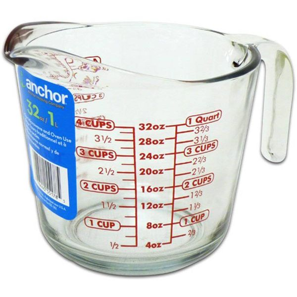 Anchor Hocking Glass Measuring Cup 946 ml