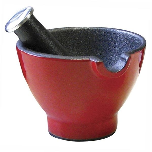 Le Cuistot Mortar and Pestle Red