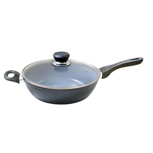 Poêle à frire profonde avec couvercle de Cool Kitchen Green Cuisine 32 cm