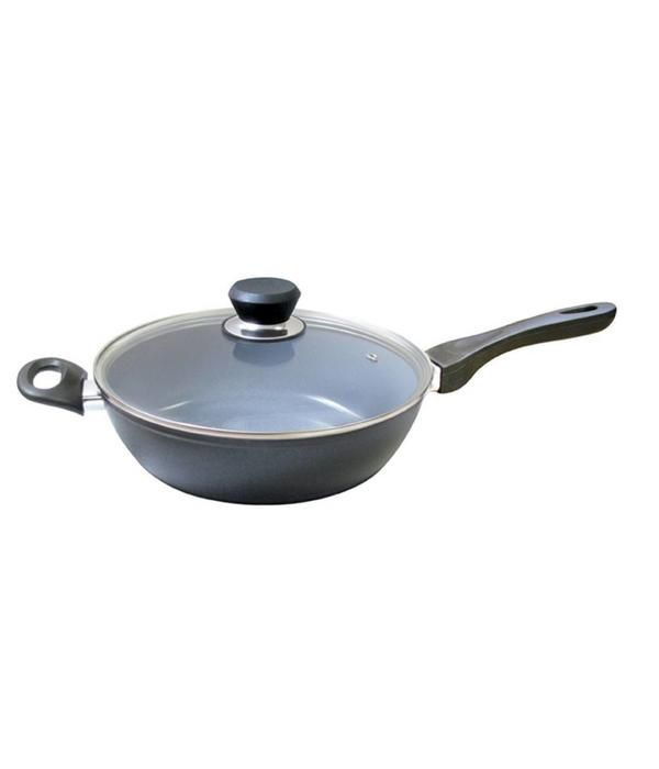 Cool Kitchen Green Cuisine  Deep Fry Pan with Glass Lid 32 cm
