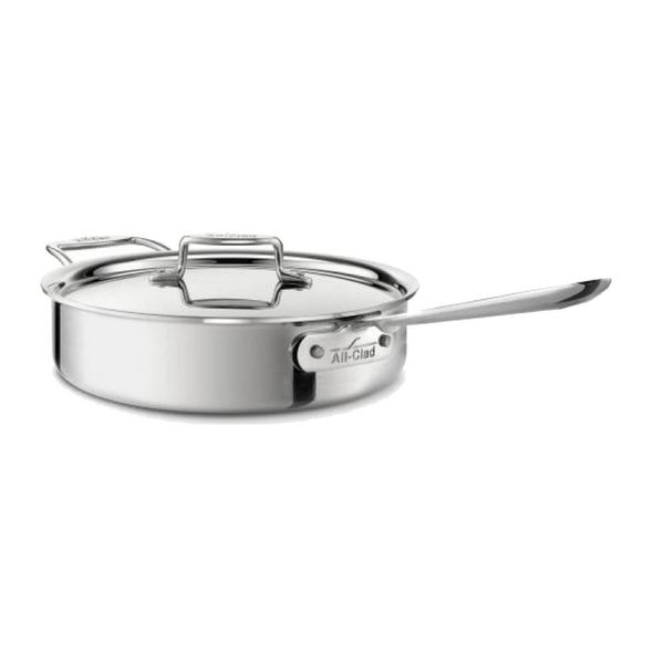 All-Clad Polished D5 2.84 L Saute Pan with Lid