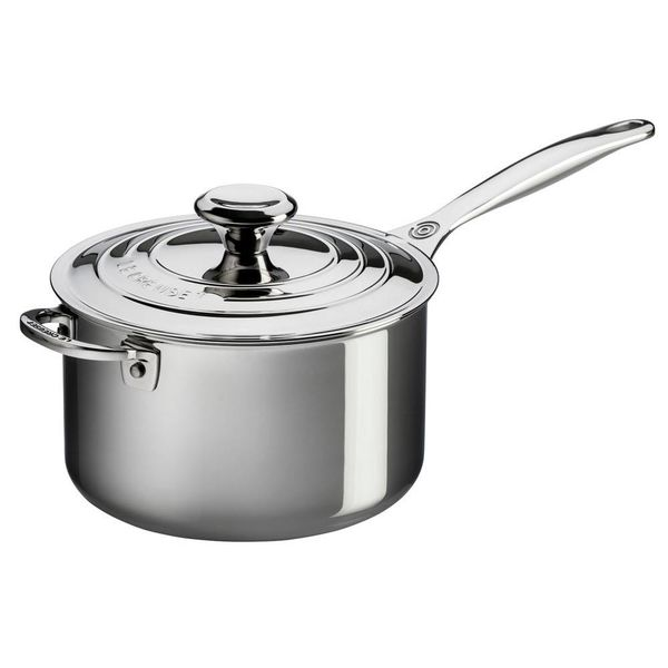 Le Creuset Stainless Steel 3.8L Saucepan