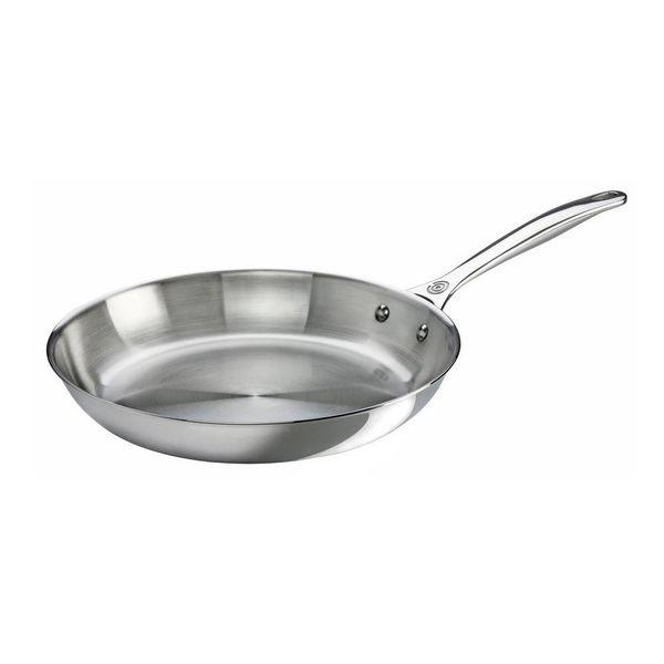 Poêle à frire en acier inoxydable Le Creuset 30 cm