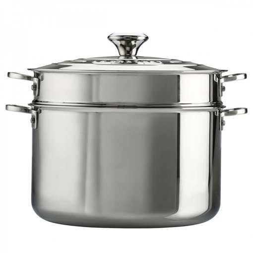 Le Creuset Le Creuset Stainless Steel Stockpot with Pasta Insert