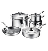 Le Creuset Le Creuset 10 Piece Stainless Steel Cookware Set
