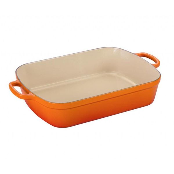Le Creuset 4.9L Rectangular Roaster Flame