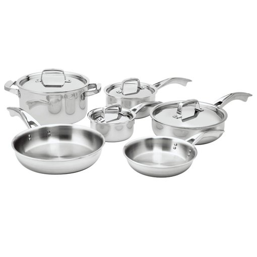 Zwilling J.A. Henckels Henckels TruClad 10 Piece Cookware Set