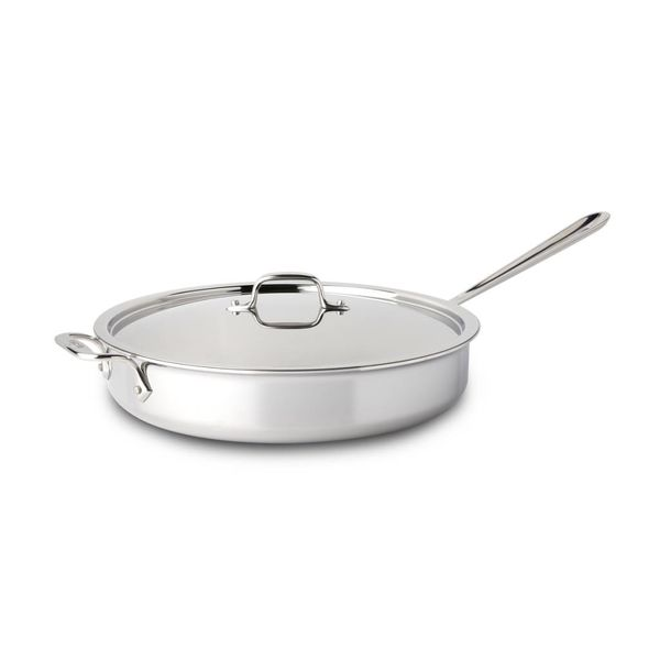 All-Clad Stainless Steel Sauté  Pan with Lid 5,7 L
