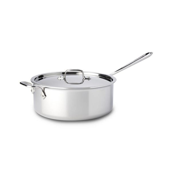 All-Clad 5.7L Deep Stainless Steel Sauté Pan with Lid
