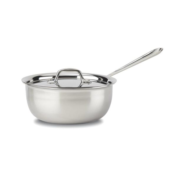 All-Clad Stainless Steel Saucier Pan with Lid 2,8 L