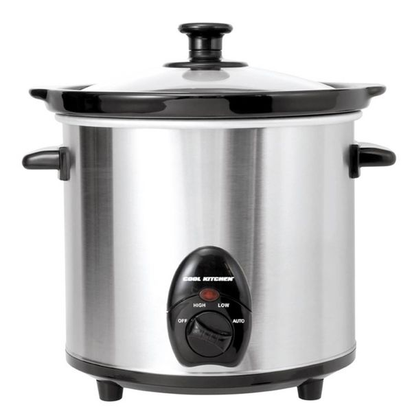 Cool Kitchen Pro Stainless Steel Slow Cooker