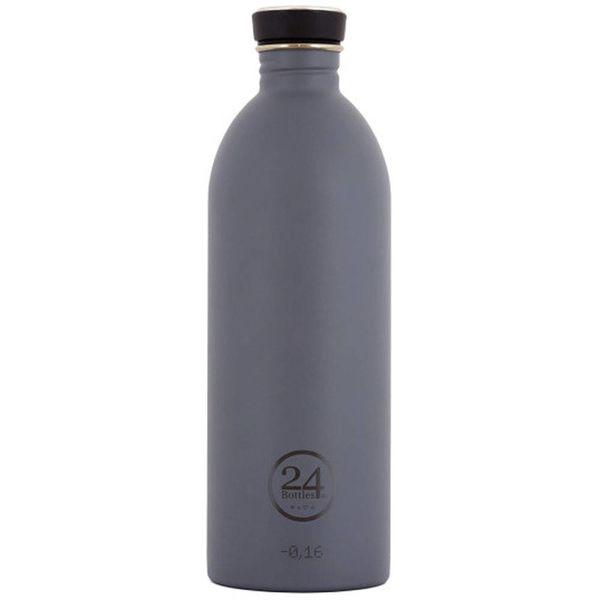 Bouteille à eau gris formel urbain de 1000 ml