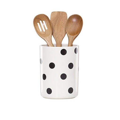 Kate Spade Kate Spade Deco Dot Crock with 3 Utensils