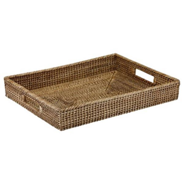 The French Chefs Rattan Rectangle Tray