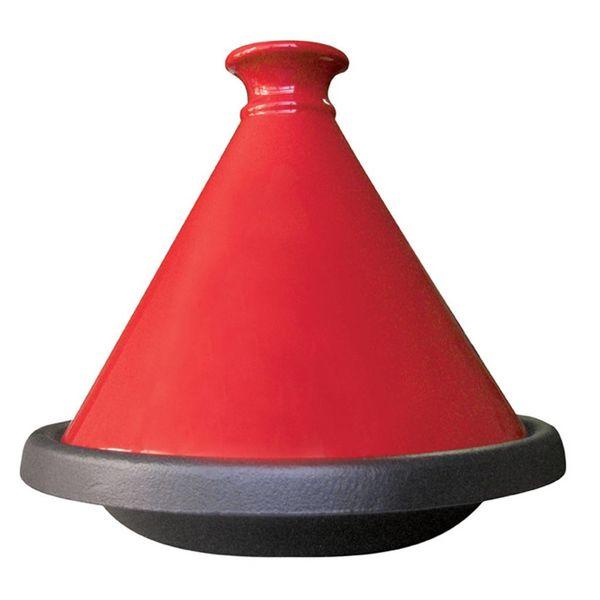 Tajine de Le Cuistot 31 cm / Fonte / Rouge
