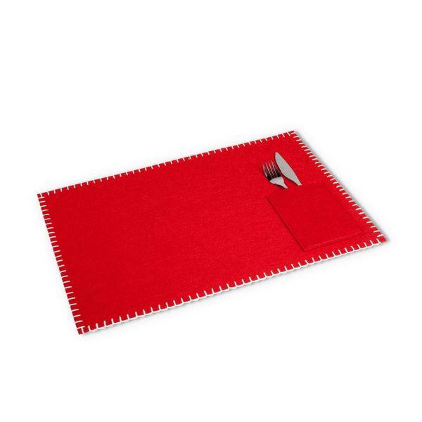 Napperon en feutre rouge avec poche intégrée de Abbott
