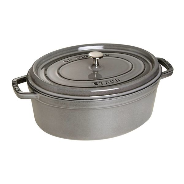 Staub Oval Cocotte 5,5 L Grey