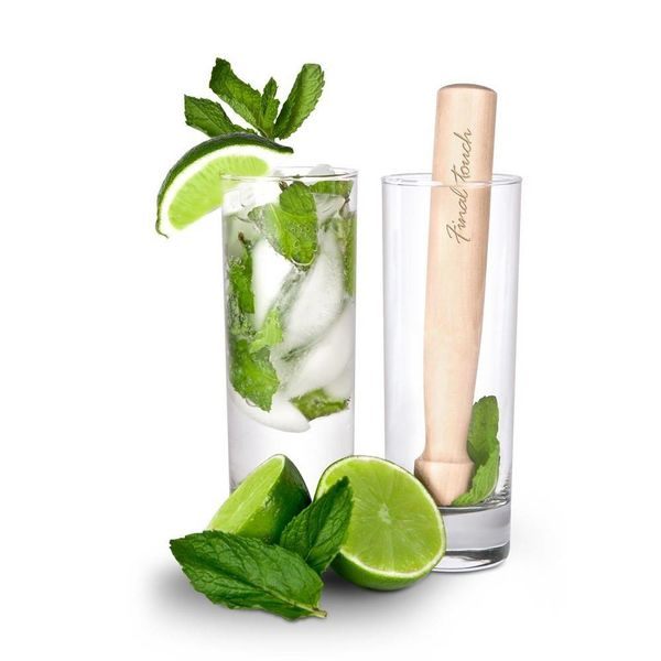 Final Touch Mojito Glass & Muddler Set