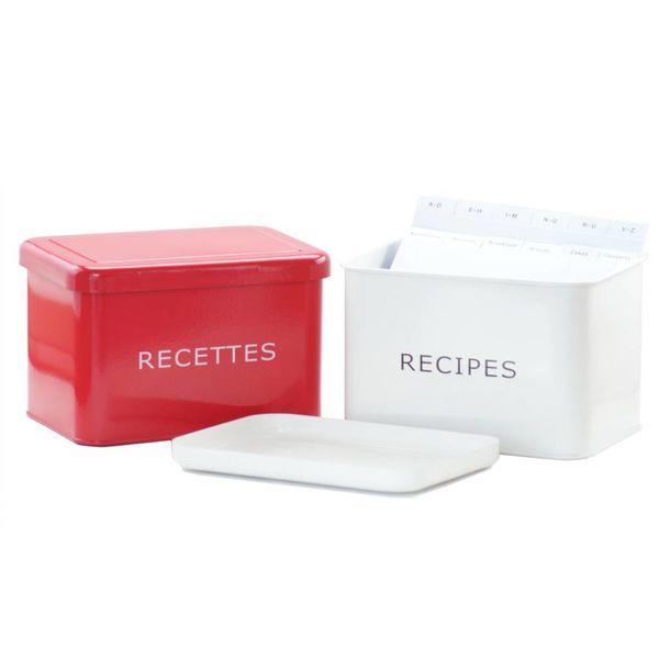 Boîte à recettes rouge de DecorSense