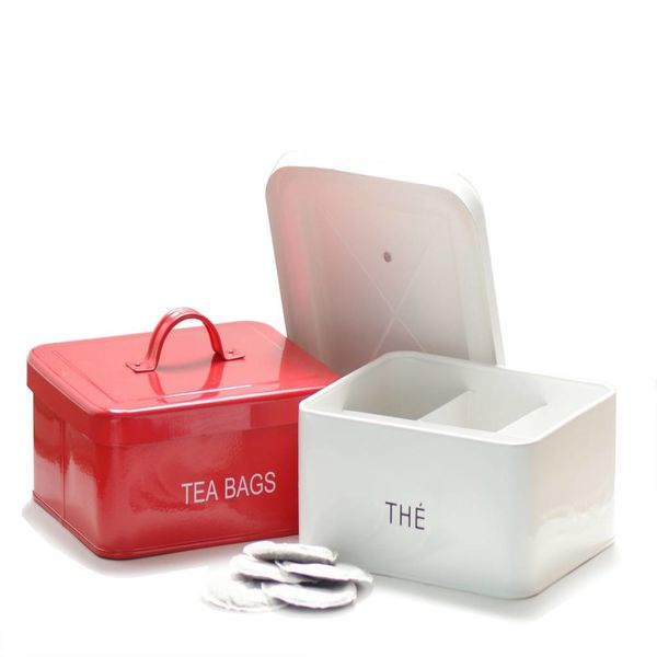 DecorSense Red Tea Box