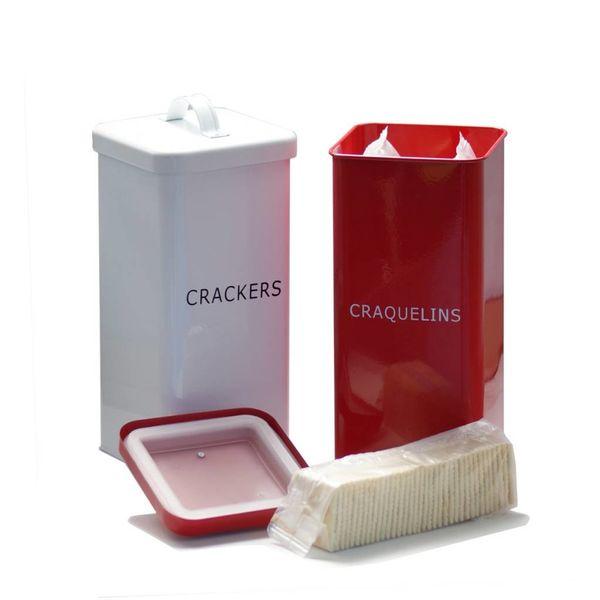 DecorSense Red Cracker Box