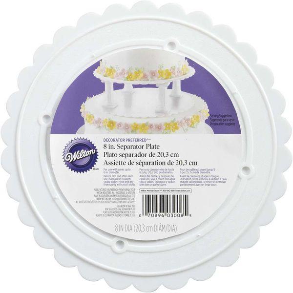 """Wilton Decorator Preferred 8"""" Scalloped Separator Plate"""