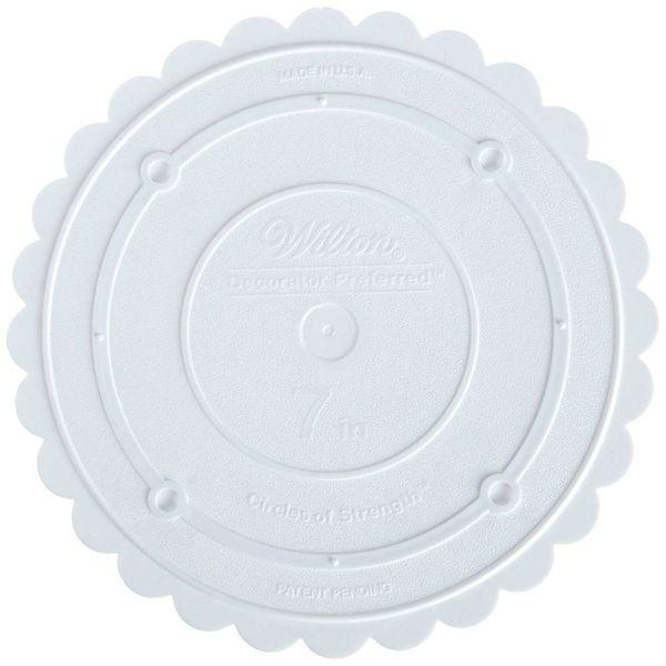 """Wilton Decorator Preferred 7"""" Scalloped Separator Plate"""