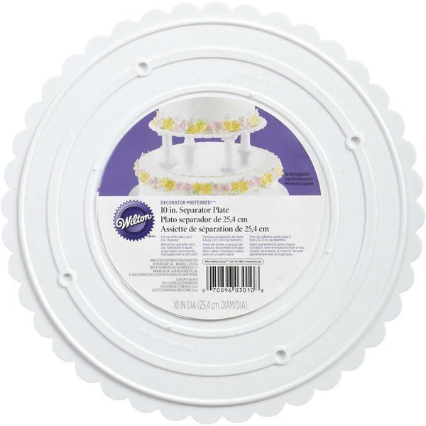 "Wilton Decorator Preferred 10"" Scalloped Separator Plate"