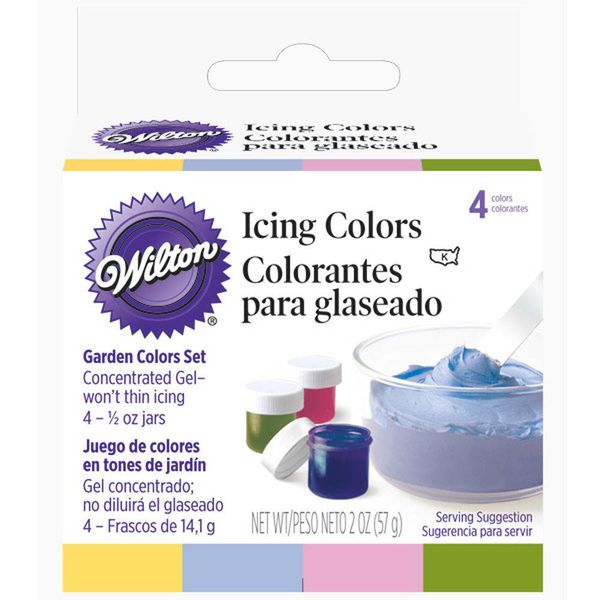 Wilton Garden Tone 4-Icing Colours Set