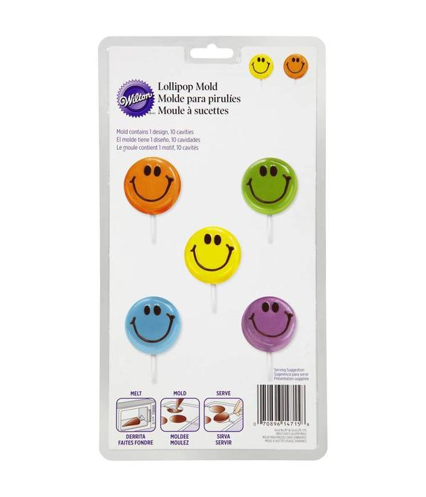 Wilton Smiley Face Lollipop Mold - Ares Kitchen and Baking