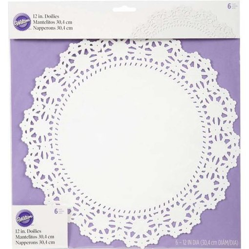 Wilton Wilton 30.4cm Round Grease-Proof White Doilies