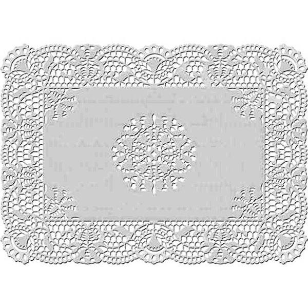 Wilton 25.4 x 35.5cm Rectangular  Grease-Proof White Doilies
