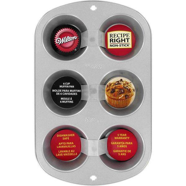 """Moule pour 6 muffins """"Recipe Right"""" de Wilton"""