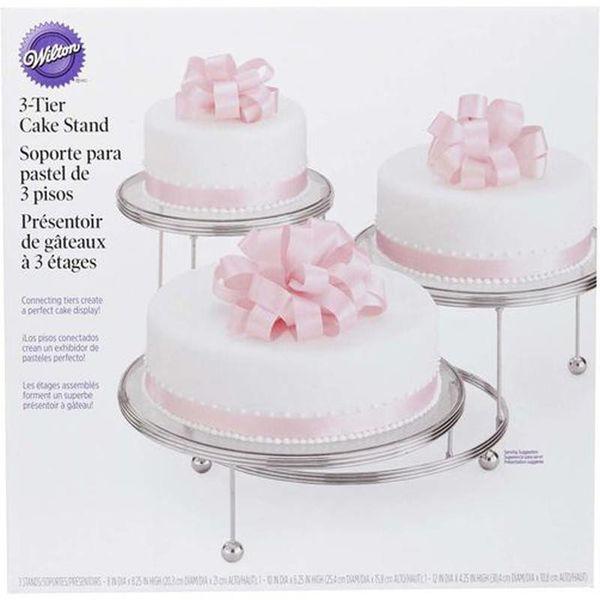 """Support à dessert 3-étages """"Cakes-N-More"""" de Wilton"""