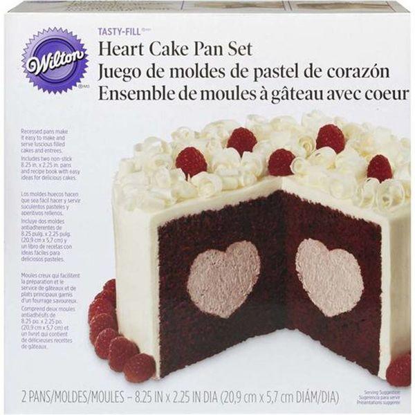 Moule à gâteau rempli en coeur de Wilton