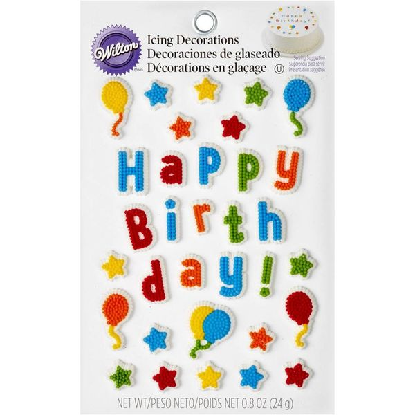 Wilton Kid's Birthday Edible Cake Topper Decorating Kit