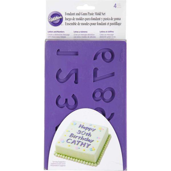 Wilton Letters & Numbers Fondant & Gum Paste Molds