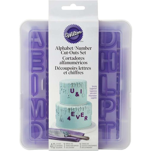 Wilton Wilton Alphabet & Numbers Fondant Cut-Outs Set